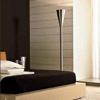 Luminator designer floor lamp  nickel