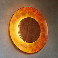 Copper leaf plated wall light Lunaire 75 cm