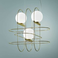 Designer hanging light Setareh with LEDs  gold