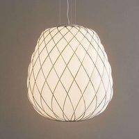 Pinecone   designer hanging light  milky glass