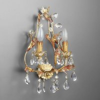 PERUGIA two bulb wall light lead crystal
