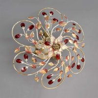 NADJA ceiling light with crimson crystals 42