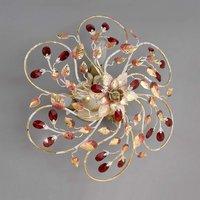 NADJA ceiling light with crimson crystals 60