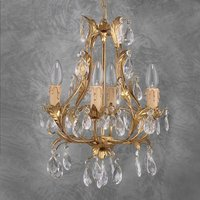 PISA noble chandelier gold glass