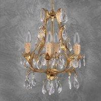 PISA noble chandelier gold lead crystal