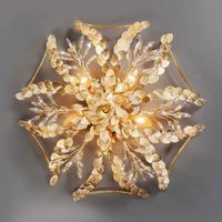 Foliage white patinated ceiling light