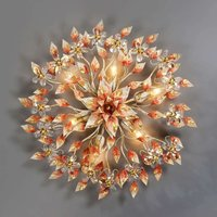 Leah enchanting ceiling light in warm red tone