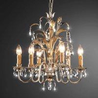 Jeliza silver coated six bulb chandelier