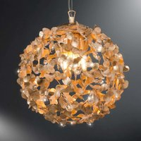 Oro spherical pendant light with crystals