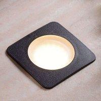 Square recessed floor light CECI 120 SQ blk