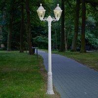 LED post light Artu Rut 2 bulb E27 white