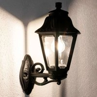 LED outdoor wall lamp Bisso Anna E27 black upwards