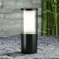 Black pillar light Carlo height 25 cm