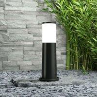 Amelia pillar lamp in black  height 40 cm