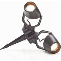 Ground spike light Minitommy in black  two bulb