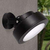 LED outdoor spotlight Tommy 10 W warm white  black