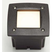 Leti 100 Square   recessed spotlight black
