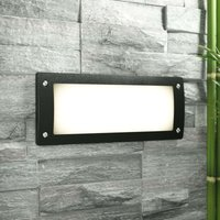 Recessed wall spotlight Leti 300 black  warm white