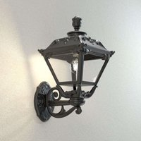 Golia wall lantern for outdoors black clear 2 700K