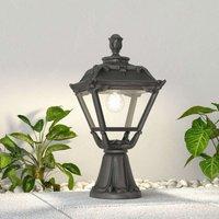 Golia LED pillar lamp E27  black  clear 2 700 K