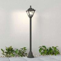 Golia path lamp  E27  black  clear 2 700 K 145 cm