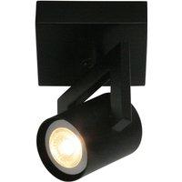 ValvoLED modern ceiling lamp in black one bulb