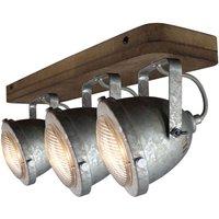 Ceiling light Woody  galvanized  three bulb