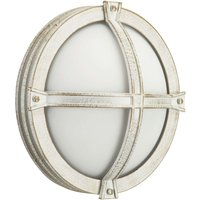 Solid Agne  outdoor wall light in white gold