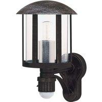 Genefe outdoor wall light with sensor  black