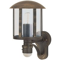Genefe outdoor wall light with sensor  brown
