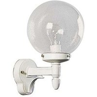 Outdoor wall light with bubble glass  white