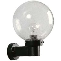 Spherical wall light for outdoor areas  black