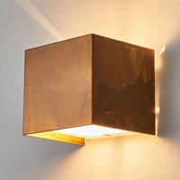 Wall lamp LOLA with oxidized brass