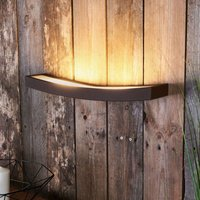 LED wall light Dolce in rust look  50 cm wide