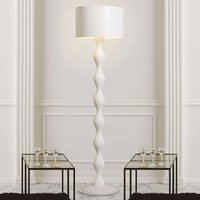 White designer floor lamp Sara