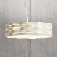 Ivory coloured hanging lamp Flutti  sheet steel