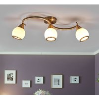 OLIVER Triple lamp Ceiling Lamp  Antique Brass