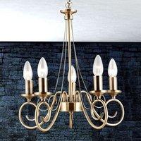 TRUNCATUS 5 Lamp Pendant Lamp in Antique Brass