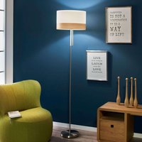 With a pull switch   floor lamp Libba  cream wood