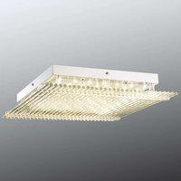 Large Hatu LED ceiling light with glass  43 cm