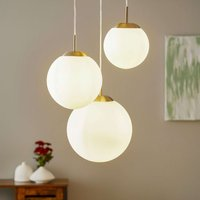 Joel three bulb hanging light with glass globes
