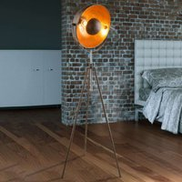 Rust coloured Xirena I tripod floor lamp