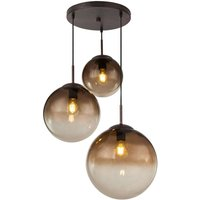 Varus glass hanging light amber 3 bulb   51 cm