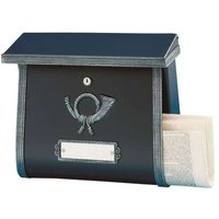 Rustic letterbox MULPI black antique
