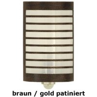 Wall lamp TERU with motion detector brown gold pa