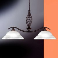 Hanging light Sybille with glass lampshade  2 bulb