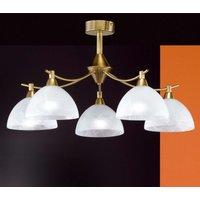 Amsterdam five bulb ceiling light  antique brass