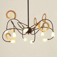 Extravagant LED hanging light Lunapark  brown gold
