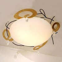 Tasteful ceiling lamp CASINO with crystal