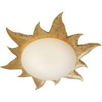 Golden ceiling lamp NOVA GOLD w  opal glass shade
